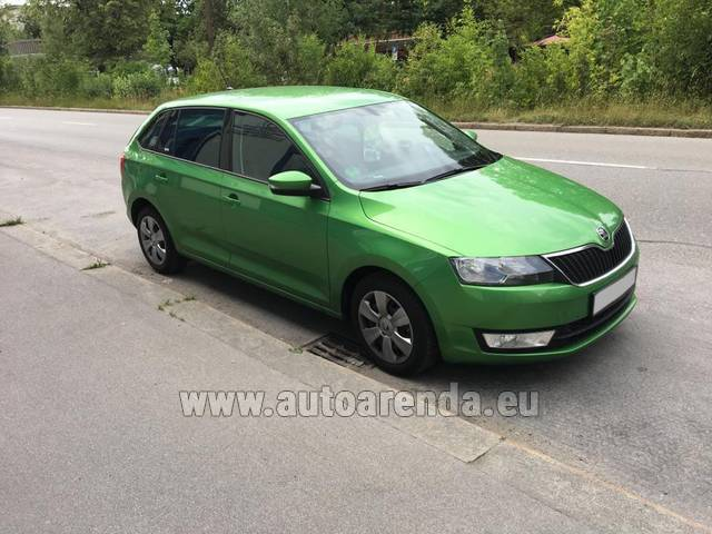 Автомобиль ŠKODA Rapid Spaceback для аренды в Европе